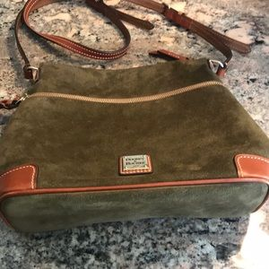 Dooney & Bourke Green Suede Crossbody